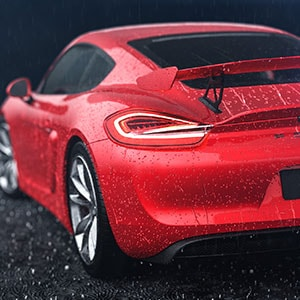 3D car animation porsche