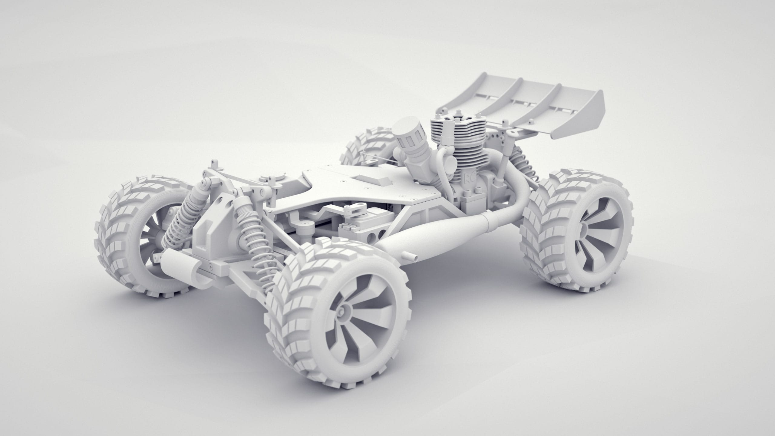 rc-car clay render