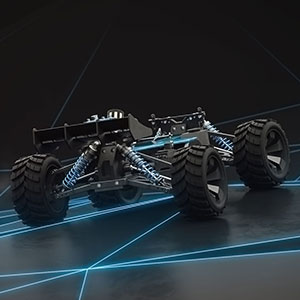 3D Produktvisualisierung rc car 3d animation, funktionsweise 2-takt motor