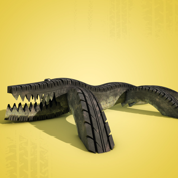 Tire Track digital-art 3d-CGI 11