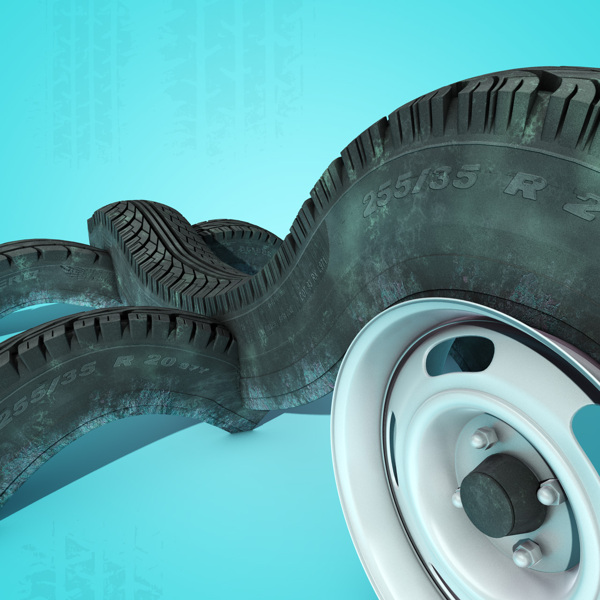 Tire Track digital-art 3d-CGI 14