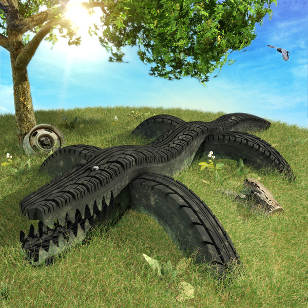 Tire Track digital-art 3d-CGI 16
