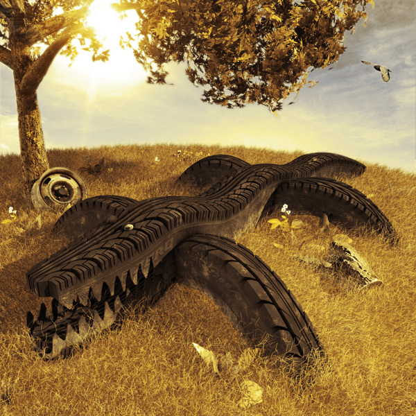 Tire Track digital-art 3d-CGI 17