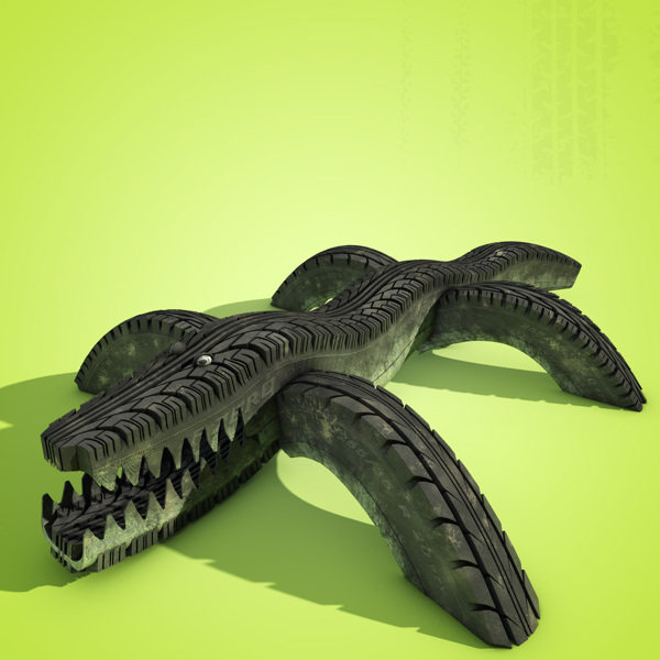 Tire Track digital-art 3d-CGI 7