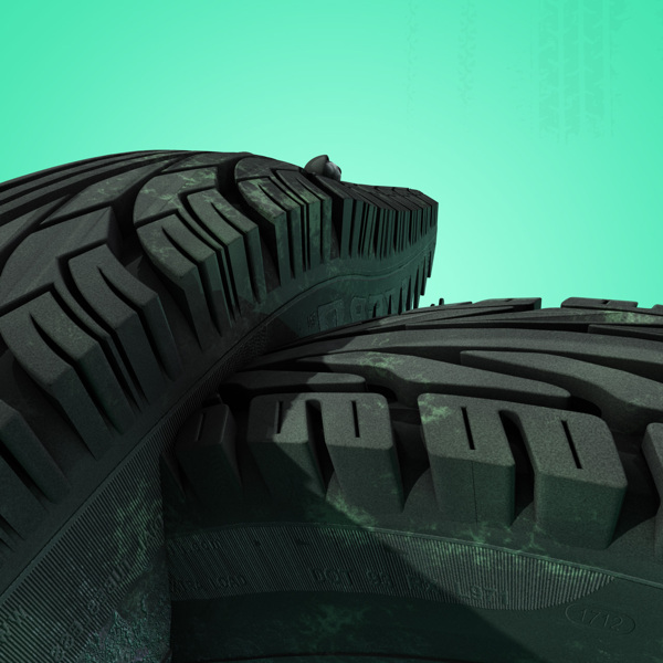 Tire Track digital-art 3d-CGI 9