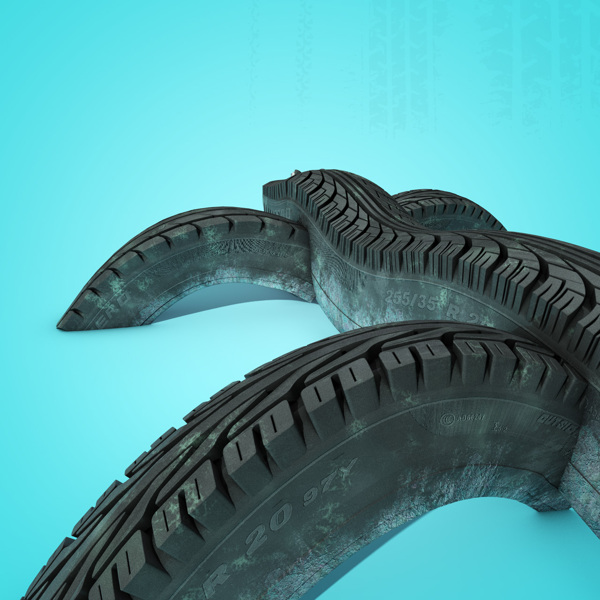 Tire Track digital-art 3d-CGI 10