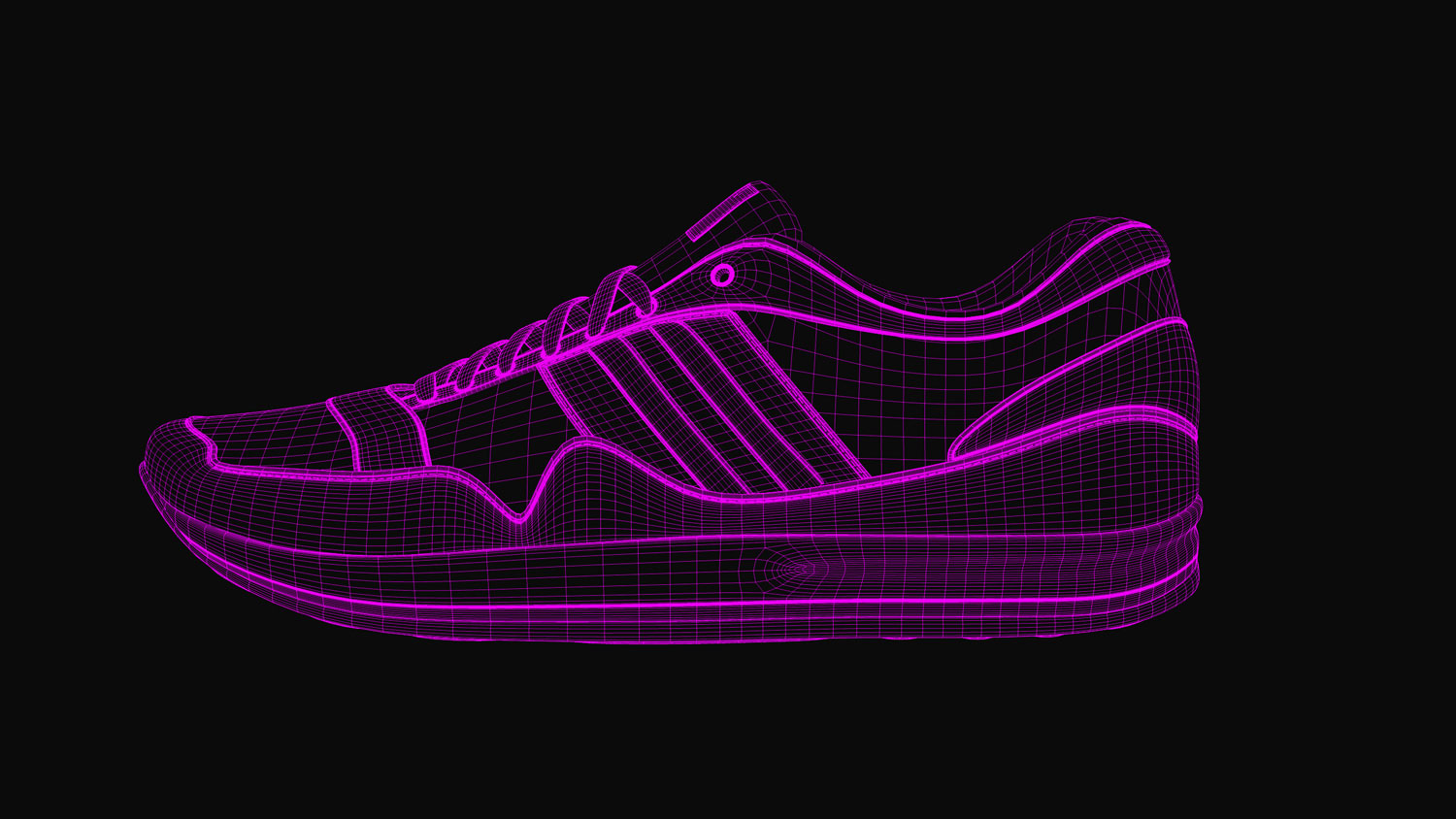 Sport Schuh / Sports Shoe 3d-render wireframe 3