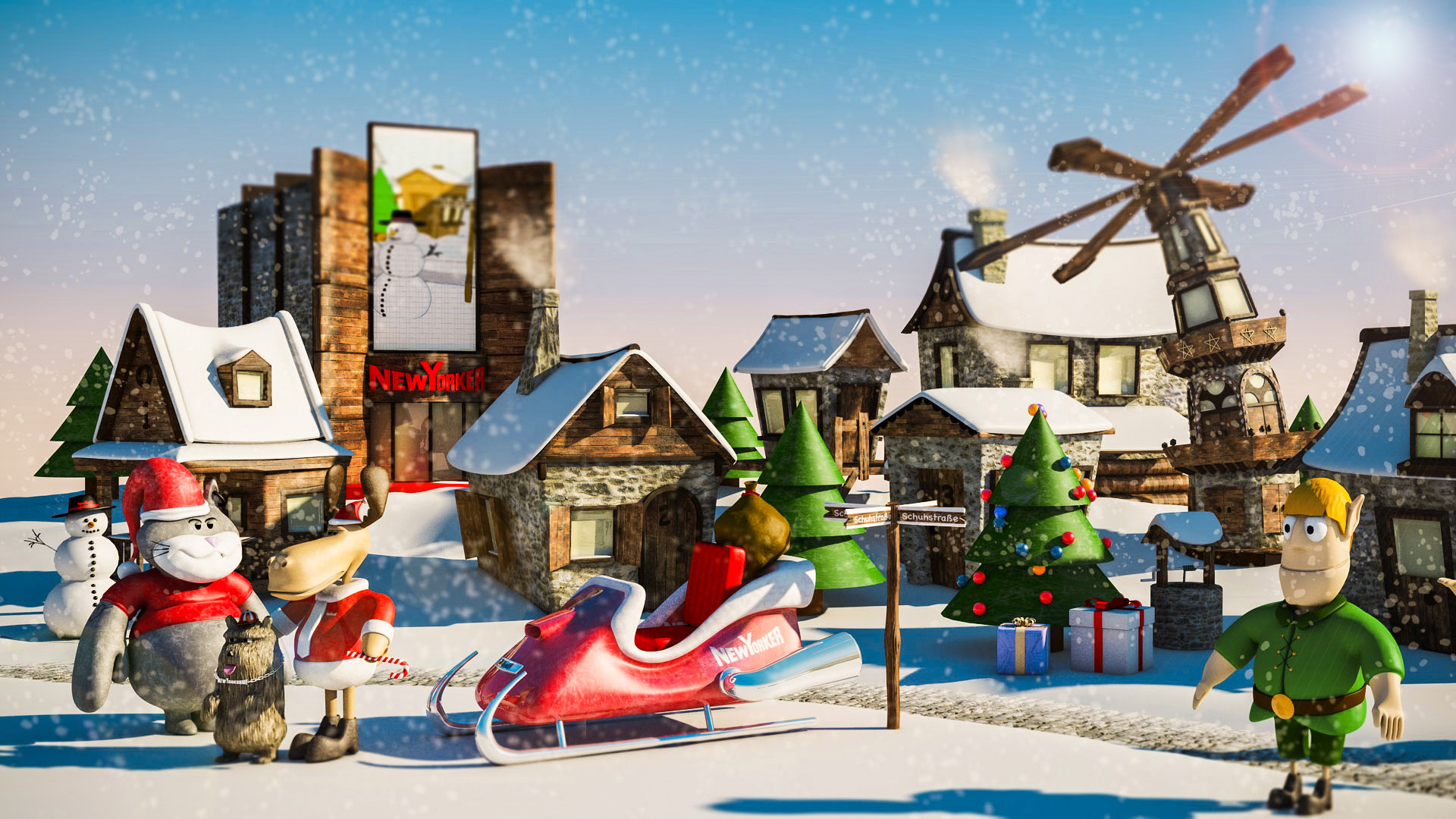 NY Christmas Calendar CGI-3D Website
