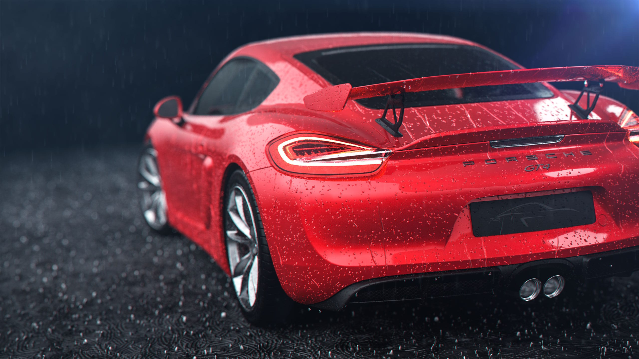porsche, ruf rainy car-animation
