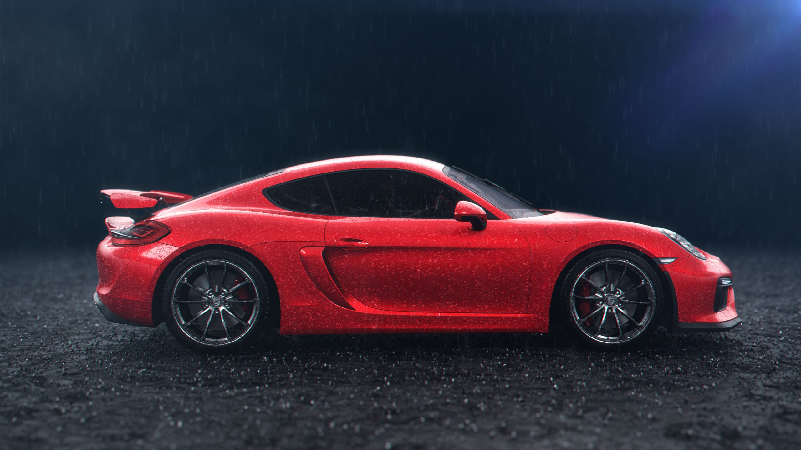 porsche, ruf rainy auto 3d animation