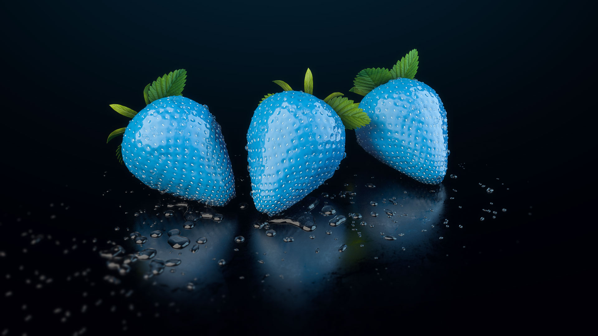 3D Produktvisualisierung Erdbeere, Strawberry, free 3d model